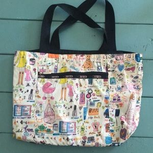 Limited edition Lesportsac reversible tote